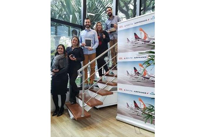 Danieli Dantas (gerente Comercial da RexturAdvance), Tânia Naldony (Delta), Fernando D'Jiovanni (diretor da Emporium), Anna Carla Homem (Air France/KLM) e Victor Ricci (executivo de Vendas da RexturAdvance)