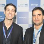 Alan Veras, diretor de operações do Aeroporto de Fortaleza, e Gilson Azevedo, gerente de vendas da Copa Airlines