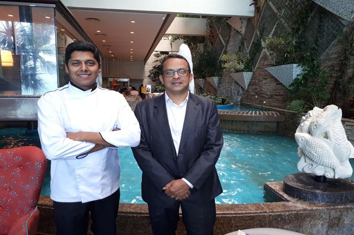Chef David Cruz e Gerente de Alimentos e Bebidas, Reginaldo Souza