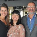 Clara Campos, da Minor Hotels, Vivian Nakagawa e Javier Parra, da Indochina Strings