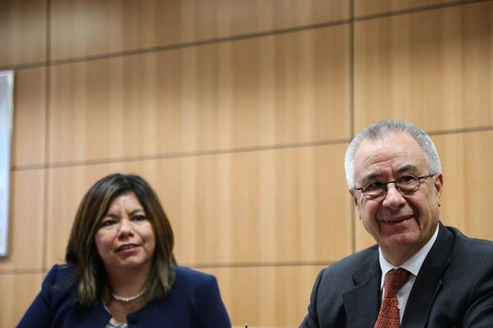 Diana Pomar e embaixador Salvador Arriola. Foto: Roberto Castro - Ascom/MTur