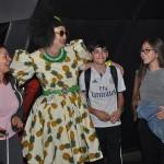 Humorista Aurineide Camurupim interagiu com os passageiros na chegada a Fortaleza
