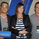 Luiz Nogueira, Lucia Helena e Lucas Trindade, do Lets Go Sea