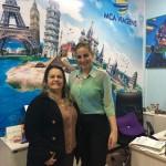 Mariângela Rebello, da MCA Viagens (Teresópolis RJ), e Allana Soares, da Marriott International