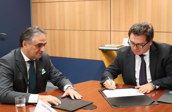Ministro Vinicius Lummertz e o prefeito de João Pessoa, Luciano Cartaxo. Foto - Roberto Castro