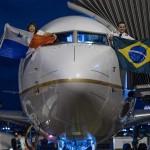 Pilotos mostram bandeiras de Brasil e Panamá - Divulgação