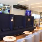 Visão do novo lounge
