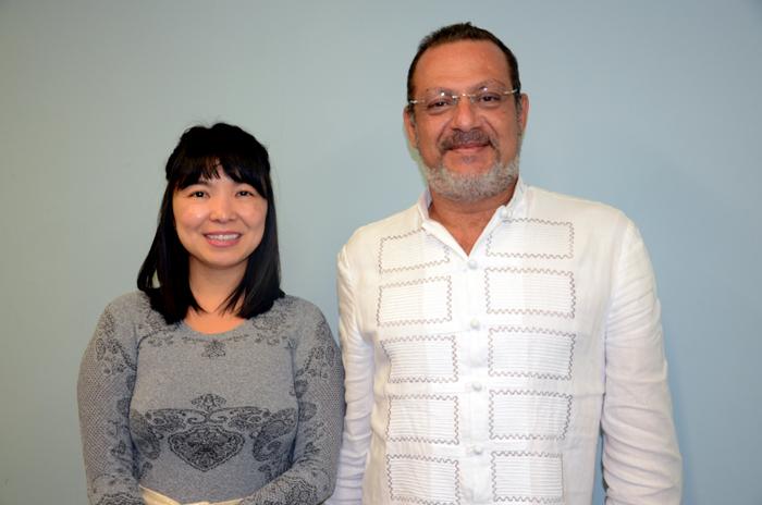 Vivian Nakagawa e Javier Salvador Parra, diretora de Vendas para o Brasil e diretor Geral da Indochina Strings