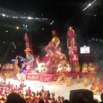 Entrada do boi Garantido na arena