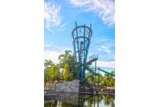 Infinity Falls no SeaWorld Orlando atinge o ponto mais alto