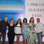 Alan França, Julia Meira, Izabella Lessa e Ricardo Bezerra, da Azul Viagens, com Graziella Fritscher, da Secretaria de Turismo de Maceió, e Teresa Bandeira, diretora executiva da ABIH-AL