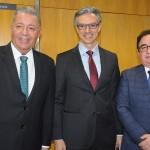 Alexandre Sampaio, da Cetur, Marco Ferraz, da Clia Brasil, e Manoel Linhares, da ABIH Nacional