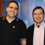 Alexandre Veras, da Live Viagens, e André Cardoso, da SLC Viagens
