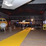 Anúncio da parceria aconteceu no hangar da Passaredo, em Ribeirão Preto