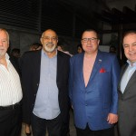 András Fülöp e Jorge Rodrigues, do Grupo High Light, com Peter Vittori e Dilson Verçosa, da American