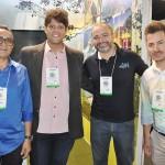 Andrade Filho, do Grupo Aram, Flaviano Simionato, do Continental Inn, Alan França, da Azul Viagens, e Marco Rezende, do Aram Hotéis