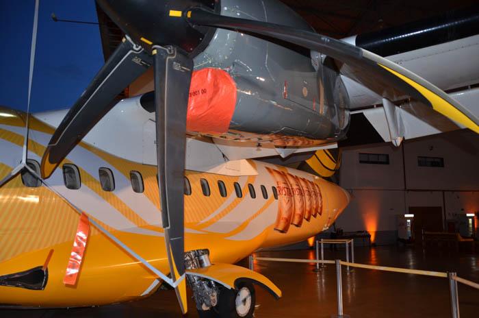 Avião personalizado da parceria entre Passredo e Crystal