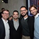 Bob Rossato, da Viajanet, Leonardo Cassol, da Melhores Destinos, e Alexandre Zylberstajn e Fabio Vilela, da Passageiro de Primeira
