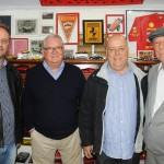 Carlos Eduardo Sixel e Marcelo Florêncio, da TurisPetro, Roy Taylor, do M&E, e José Augusto, de La Petite Galerie de Jouets