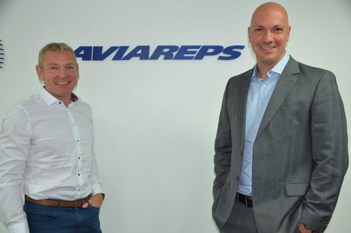 Edgar Lacker, CEO, com Marcelo Kaiser, novo diretor regional da Aviareps na América Latina