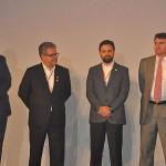 Eduardo Bernardes, VP Vendas e Marketing, Sérgio Quito, VP de Operações, Ceso Ferrer, VP de Planejamento, e Richard Lark, VP Financeiro da Gol