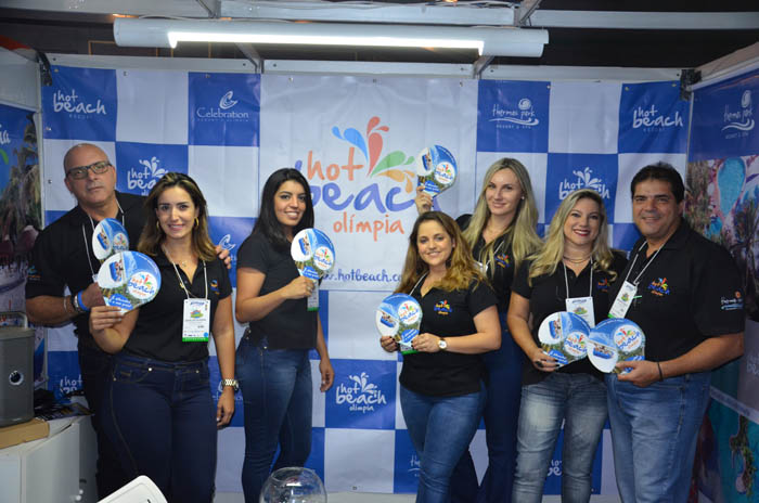 Estande do Hot Beach Olímpia, na Avirrp 2018