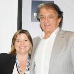 Estela Farina, da Clia Brasil, e Arialdo Pinho, secretário de Turismo do CE