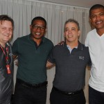Filipe Gouveia, da Avianca, Cesar Sampaio, Percio Mello, do Meliá, e Junior Baiano