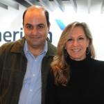Gilberto Bocchino, da European Travel, e Luciana Encarnação, da American