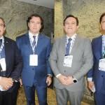 Gilberto Costa, da Casa do Turismo, Flávio Peruzzi, da Clia Brasil, Mário Franco, da Royal Caribbean, e Luciano Oliveira, da Shiplog Agency