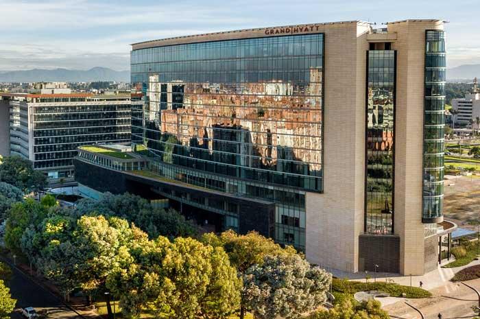 Hotel de luxo, com 372 quartos, é o primeiro da rede Hyatt em Bogotá e o primeiro Grand Hyatt na Colômbia Creditos: Tadeu Brunelli