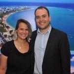 Graziella Fritscher e Jair Galvão, da secretaria de Turismo de Maceió