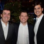 Ivo Lins, Emerson Camilo e Christiano Oliveira, do Grupo Flytour