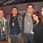 Jairton Rocha, Raphael Valério, Airton Alencar, Iraci Braga e Leila Romachelli, da Gol