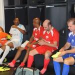 Jogadores se prepararam em um dos vestiários do Mané Garrincha