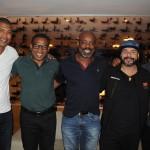 Junior Baiano, César Sampaio, Ezequiel Santos, da Trend, Marcello Restivo, da Tivoli Tur, e Marcos Assunção