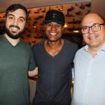 Luis Otero, da CGR Viagens, Marcos Assunção, e Márcio Henrique, da Orcatur