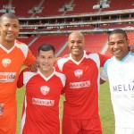 Luis Paulo Luppa, diretor geral do Grupo Trend, com Junior Baiano, Marcos Assunção e César Sampaio