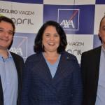 Luiz Gustavo da Costa, Claudia Brito e Celso Andrade, da April Brasil