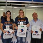 Marcela Luize, Thais Rodrigues e Carlos Leonardi, da New Age