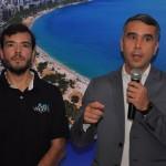 Marcelo Bento, da Azul Viagens, e Rafael Brito, secretário de Turismo de Alagoas
