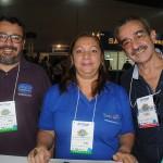 Marcio Del'Agnese e Solange Gomes, da Setur-PB, e Gilson Almeida, do Club Eu Vou Sim