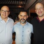 Marcio Henrique, da Orcatur, André Denecial, da Money Turismo, e Klauss de Menezes, da Girotour Viagens-GO