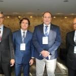 Marco Ferraz e Flávio Peruzzi, da Clia Brasil, com Gustavo Martins e Wilson Cruz, da Conapra