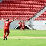 Marcos Assunção celebra gol do time da Avianca