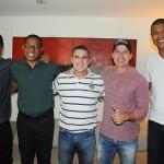 Mario Antonio, diretor de Vendas do Grupo Trend, com os ex-jogadores Marcos Assunção, Cesar Sampaio, Tulio Maravilha e Junior Baiano