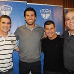 Mario Antonio e Luis Paulo Luppa, do Grupo Trend, com Fernando Gagliardi e Percio Mello, do Meliá