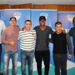 Mario Antonio e Luis Paulo Luppa, do Grupo Trend, com os ex-jogadores Junior Baiano, Túlio Maravilha, Marcos Assunção e Cesar Sampaio