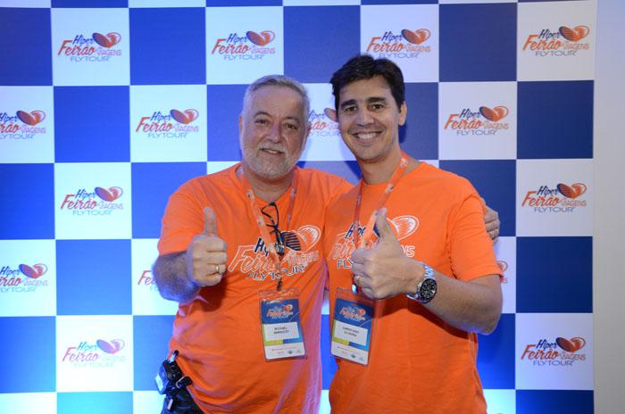 Michael Barkoczy, presidente da Flytour MMT Viagens, e Christiano Oliveira, presidente do Grupo Flytour