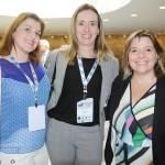 Paula Riotto, da Royal Caribbean, Patricia Leal, da Clia Brasil, e Estela Farina, da NCL